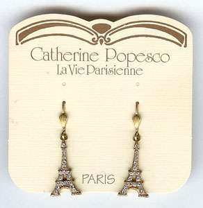 French EIFFEL TOWER Earrings GOLD Catherine POPESCO New