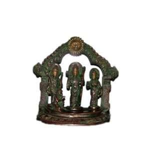 Ram Darbar Statue Ram, Sita, Lakshmana, & Hanuman 8 Brass