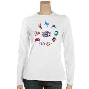 West Ladies White Conference Long Sleeve T shirt Sports & Outdoors
