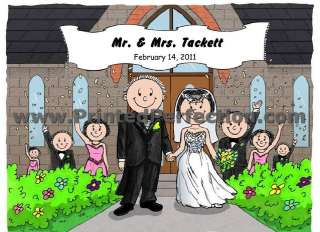 WEDDING   Custom Cartoon Gift, Many Options for Personalization