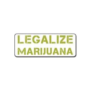 Legalize Marijuana   Car, Truck, Notebook, Vinyl Decal Sticker #S362