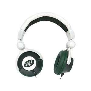 New York Jets Green White DJ Over Ear Headphones