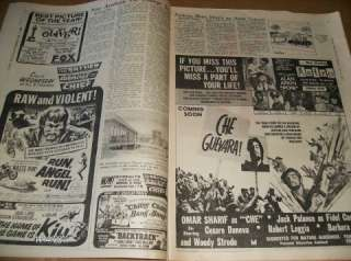 1969 Newspaper GUY and DOLLS Esther Williams LIBERACE Lou Rawls