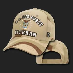 U.S. AIR FORCE HAT CAP CAMO VETERAN BASEBALL CAPS
