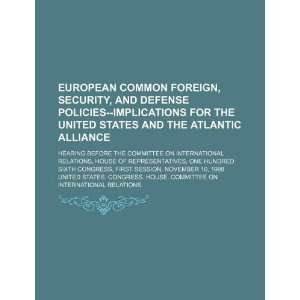 opean common foreign, securiy, and defense policies