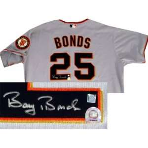 Barry Bonds San Francisco Giants Autographed Road Jersey