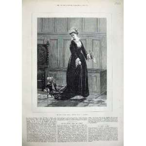 1873 Le Beau Page Beautiful Woman Dog Burgers Fine Art