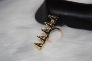 1PC New Punk Spike Rive Gold Color RING Punk Diameter 1.8cm Free