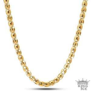 : Mens Gold Plated Lightweight Hip Hop Stainless Steel Chain: Jewelry