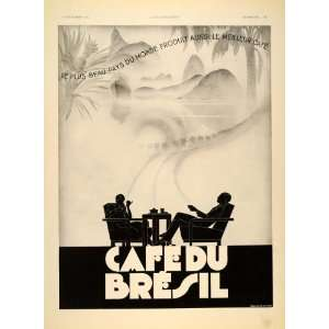 du Brasil Coffee Brazil Art Deco   Original Print Ad Home & Kitchen