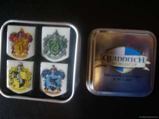 Harry Potter Hogwarts Crests Quidditch Pin Tin Box Set