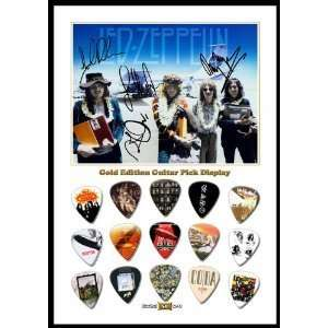 Zeppelin (A) New Gold Edition Guitar Pick Display With 15 Guitar Picks