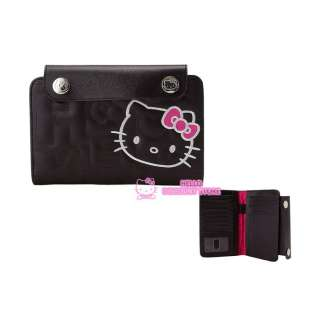 Hello Kitty Passport Case/Travel Wallet Black Quilt
