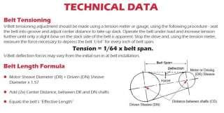 Gates V Belt Tension Chart Image Of Belt