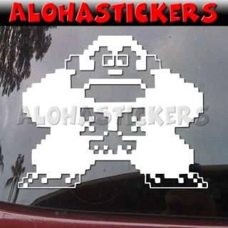 Classic DONKEY KONG Vinyl Decal Car Arcade Sticker M286