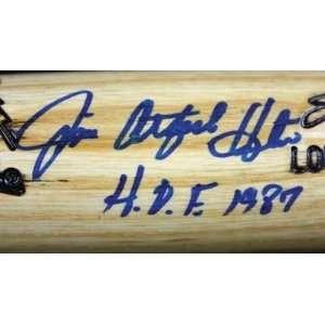 Jim Catfish Hunter HOF 87 Signed F/S L.S. Bat PSA