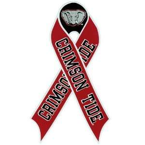 NCAA Alabama Crimson Tide Repositionable Ribbon Decal Automotive