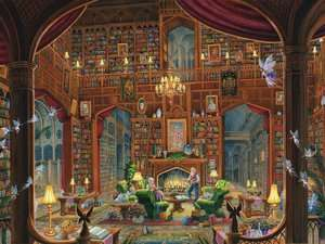 BARNES & NOBLE  Sanctuary of Knowledge 300 Piece Large Format Puzzle
