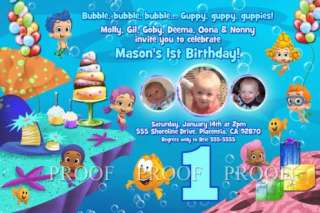 Bubble Guppies Guppy Photo Birthday Party Invitation or Thank You Card