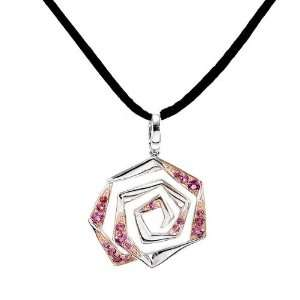 Perfect Gift   High Quality Pendant in Silver 925 with Rhodolite and