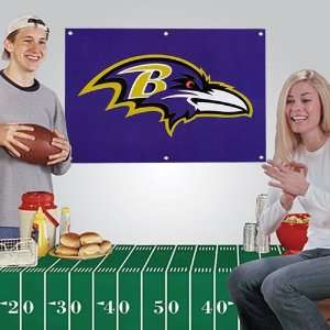 Ravens 3 x 2 Fan Banner & Tablecloth 2 Piece Football Party Kit