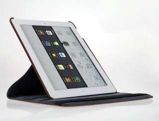 360 Rotating Leather Case Smart Cover Stand For Apple iPad 3 3rd 2 The