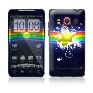Rainbow Stars Protective Skin Cover Decal Sticker for HTC