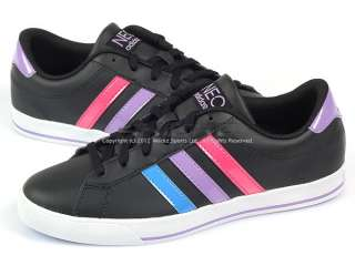 Adidas SE Daily Qt Neo Black/Blue/Purple 2012 Womens Leather Casual