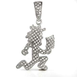 Officially Licensed Iced Out Silver Color Charm ICP Hatchet Man