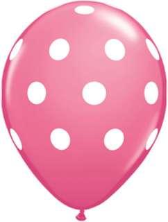5XL BALLOONS 16 latex PINK POLKA DOT party BDAY baby