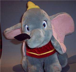 Disney Dumbo Plush Stuffed Elephant Gray 13 Animal EUC