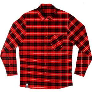 Spitfire Dickies Original Flannel Long Sleeve [Small] Red/Grey