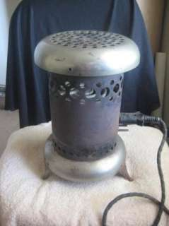 VINTAGE ROUND ELECTRIC SPACE HEATER WARMER STOVE