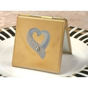 Wedding Favors Chic chrome compact mirror. (Set of 6