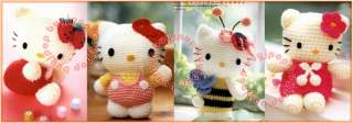 Out of Print Japanese Craft Pattern Book Hello Kitty Knit Crochet Doll