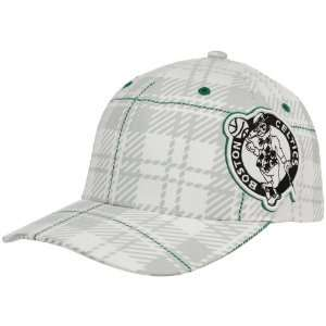 Boston Celtics White Provoker Closer Flex Fit Hat: Sports & Outdoors