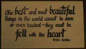 Mounted Rubber Stamp, Helen Keller Quote, Friendship