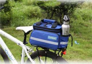 NEW Multi Blue Cycling Bike Travel Bicycle Rear Seat Pannier shoulder
