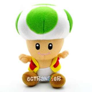 Super Mario Bros TOAD green Plush Doll Toy/MX188