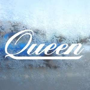 Queen White Decal Rock Band Car Laptop Window Vinyl White