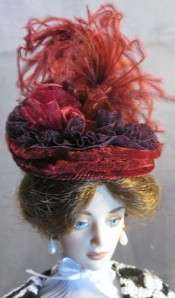 Fascinator Doll Hat on my Lili & Evangeline Ghastly Dolls