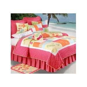 Flip Flops on the Beach King Size Quilt   Girls Bedding