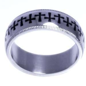 Band of Crosses   Cross Design Ring   High quality stainless steel