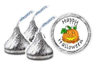 108 Personalized Halloween Hershey Kiss Candy Wrappers Labels