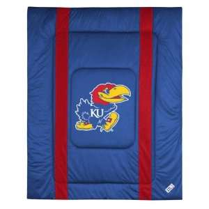 Kansas Jayhawks Sideline Comforter   Full/Queen Bed