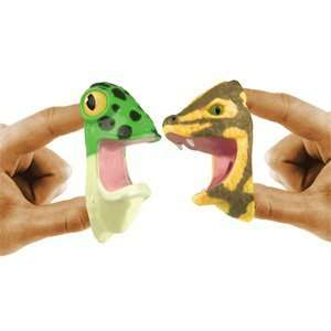 Finger Food Finger Puppets   Rainforest: Toys & Games