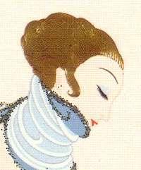 Erte Art Deco Greeting Cards The Salon Set of 2   New for 2009