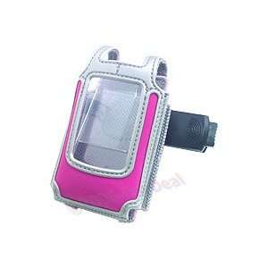 Hot Pink & Silver Clam Shell Carrying Case for LG CU500