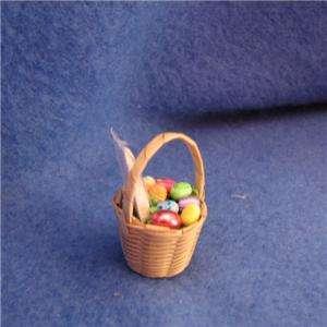 DOLLHOUSE Easter Basket eggs bunny OOAK Lola Original 3