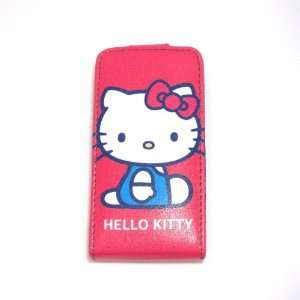 hello kitty sit down flip leather case for iphone 4 4G